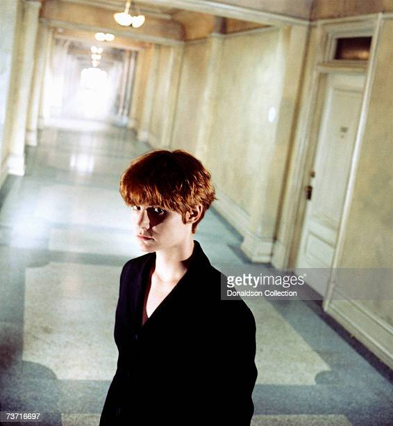 Actress Jennifer Jason Leigh poses for the advertisement for the movie Single White Female in 1991 on set in Los Angeles California
