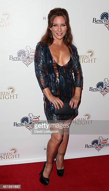 Actress Jennifer Korbin Attends Benchwarmers Annual Stars Stripes Celebration At Riviera  On July