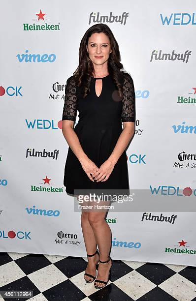 Actress Jennifer Lafleur attends the screening party for Vimeo On Demand's New WebSeries Wedlock at The Ace Hotel on September 25 2014 in Downtown...