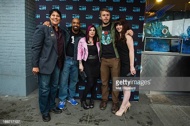 Actress Jennifer Lanier actor Michael Beach actress Joanna Angel director Brady Hall and actress Anna Giles arrive at the world premiere of Scrapper...