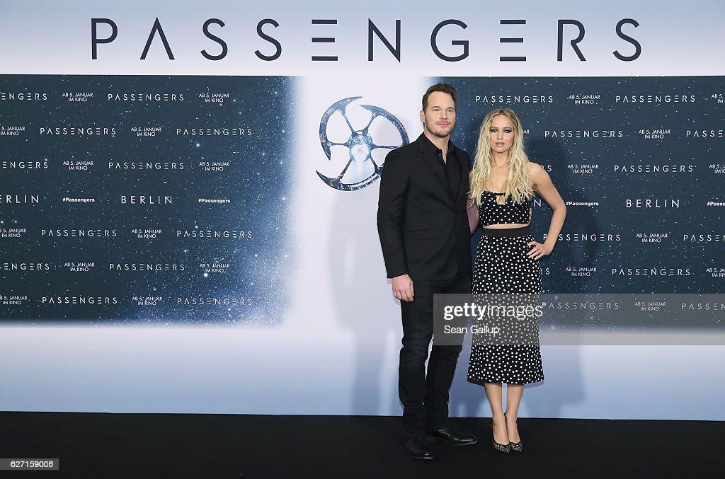 'Passengers' Berlin Photocall And Press Conference : Nachrichtenfoto