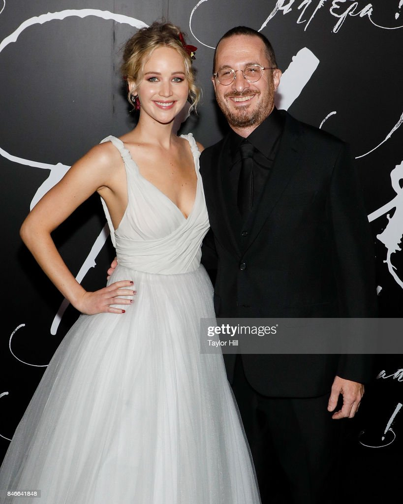 Actress Jennifer Lawrence and director Darren Aronofsky attend the premiere of 'mother!' at Radio City Music Hall on September 13, 2017 in New York City.