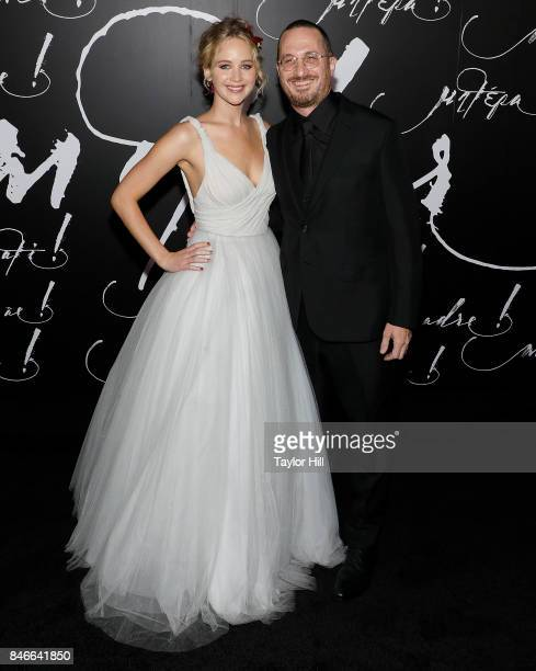 Actress Jennifer Lawrence and director Darren Aronofsky attend the premiere of mother at Radio City Music Hall on September 13 2017 in New York City