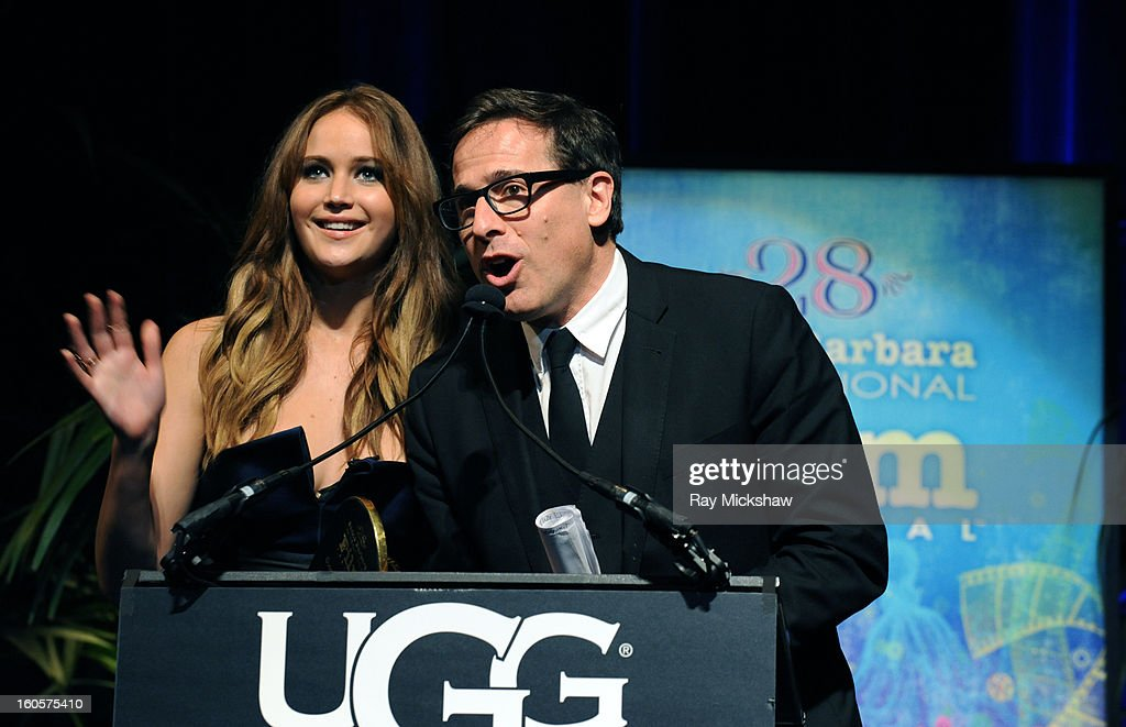 Actress Jennifer Lawrence and director David O. Russell attend the 28th Santa Barbara International Film Festival Outstanding Performer Of The Year Presented To Jennifer Lawrence on February 2, 2013 in Santa Barbara, California.