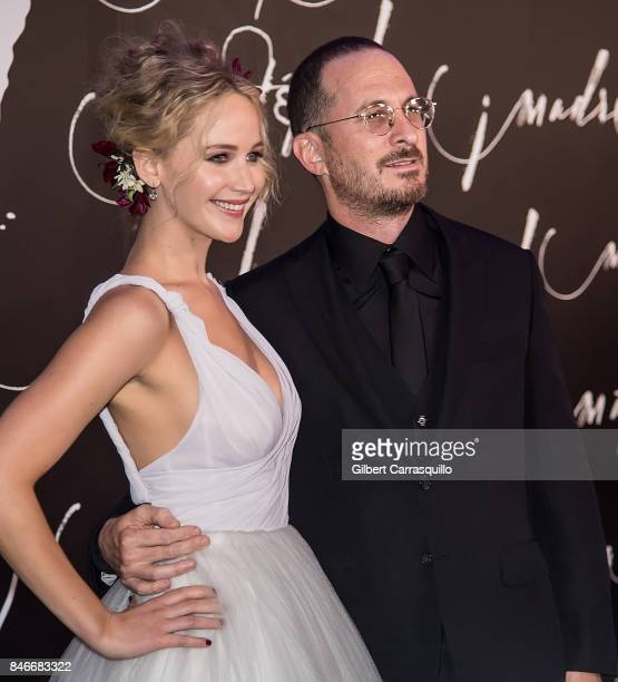 Actress Jennifer Lawrence and filmmaker Darren Aronofsky attend 'mother' New York Premiere at Radio City Music Hall on September 13 2017 in New York...
