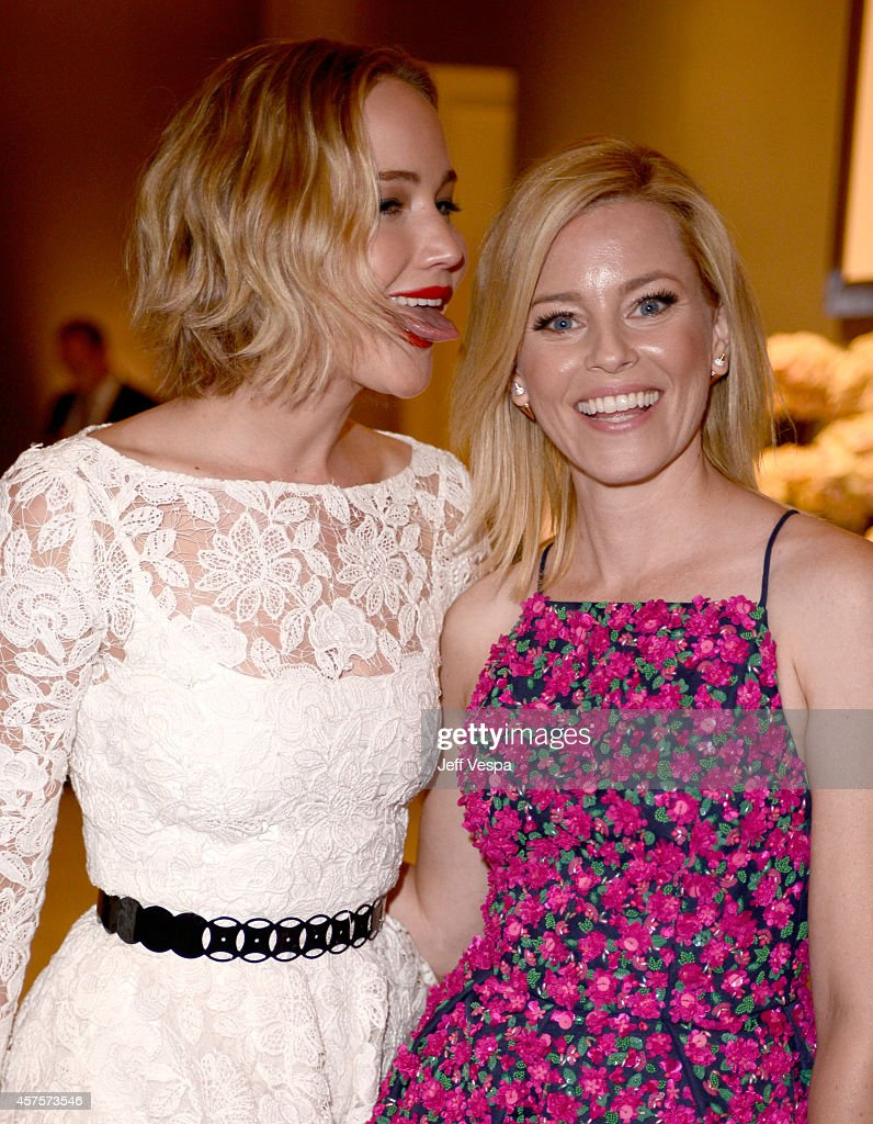 Actress Jennifer Lawrence (L) and honoree Elizabeth Banks attend ELLE's 21st Annual Women in Hollywood Celebration at the Four Seasons Hotel on October 20, 2014 in Beverly Hills, California.