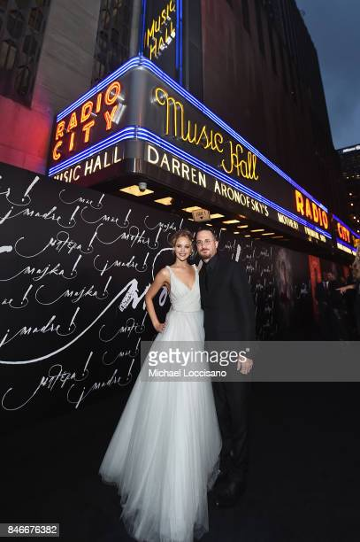Actress Jennifer Lawrence and writer/director Darren Aronofsky attend the New York premiere of 'mother' at Radio City Music Hall onSeptember 13 2017...