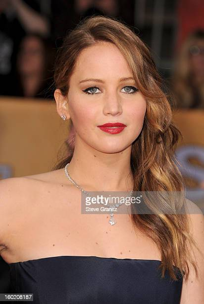 Actress Jennifer Lawrence arrives at the 19th Annual Screen Actors Guild Awards held at The Shrine Auditorium on January 27, 2013 in Los Angeles,...
