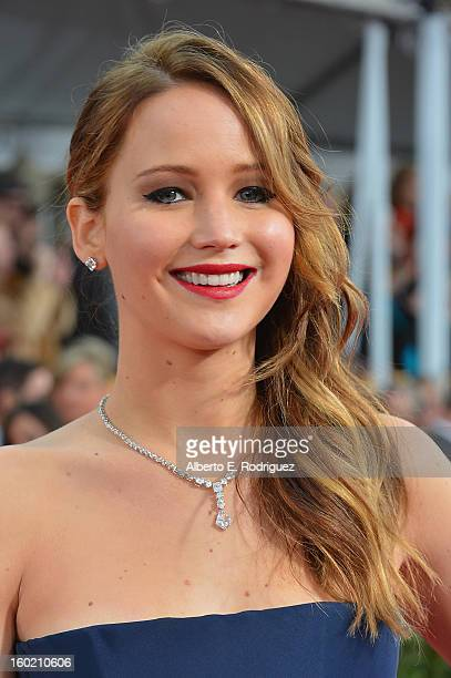 Actress Jennifer Lawrence arrives at the 19th Annual Screen Actors Guild Awards held at The Shrine Auditorium on January 27 2013 in Los Angeles...