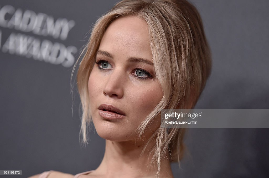 Actress Jennifer Lawrence arrives at the 2016 AMD British Academy Britannia Awards presented by Jaguar Land Rover and American Airlines at The Beverly Hilton Hotel on October 28, 2016 in Beverly Hills, California.