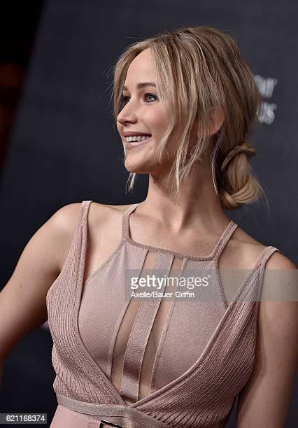 Actress Jennifer Lawrence arrives at the 2016 AMD British Academy Britannia Awards presented by Jaguar Land Rover and American Airlines at The...