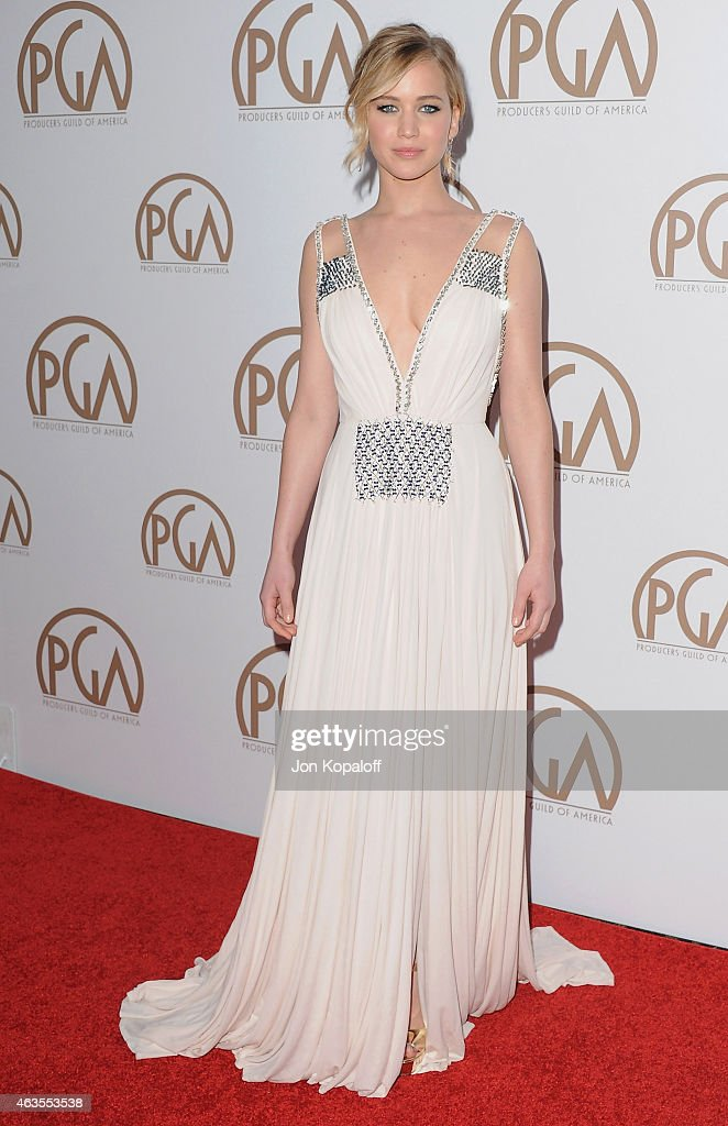 Actress Jennifer Lawrence arrives at the 26th Annual PGA Awards at the Hyatt Regency Century Plaza on January 24, 2015 in Los Angeles, California.