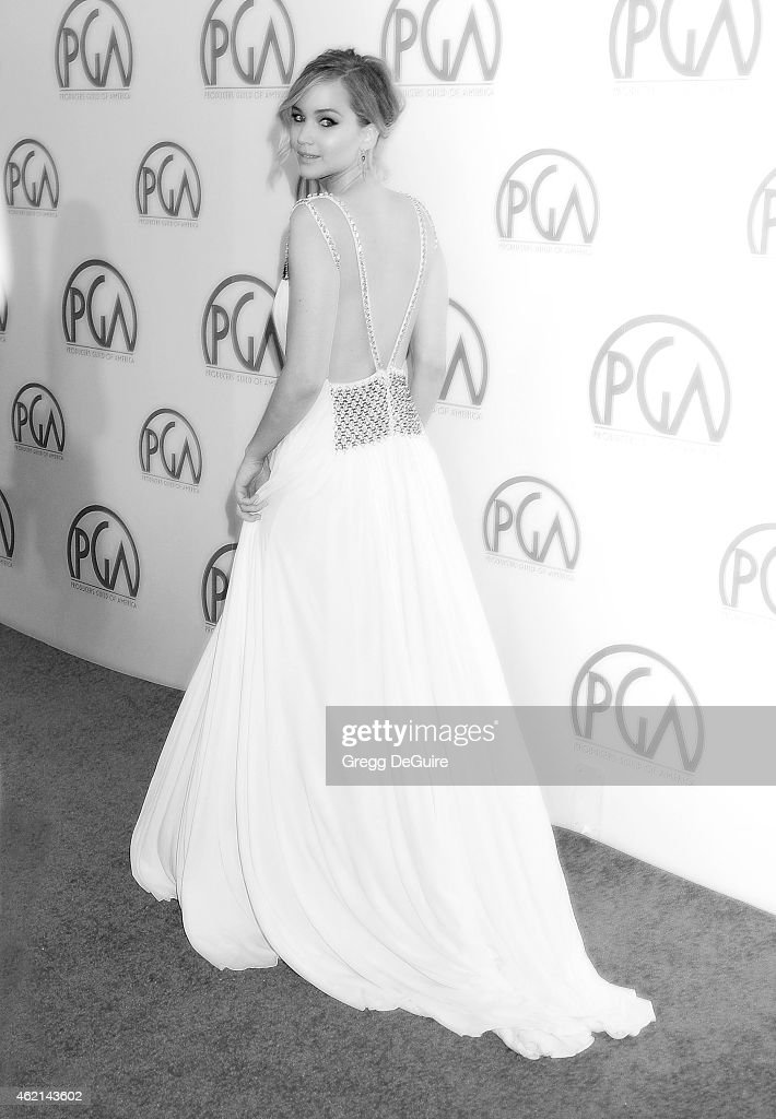 Actress Jennifer Lawrence arrives at the 26th Annual Producers Guild Of America Awards at the Hyatt Regency Century Plaza on January 24, 2015 in Los Angeles, California.