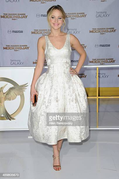 The hunger games mockingjay part 1 film actress jennifer lawrence arrives at the los angeles premiere of the hunger games mockingjay part voltagebd Image collections