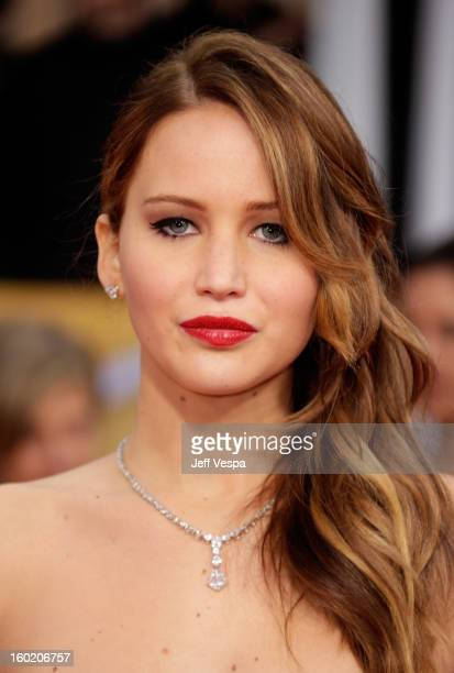 Actress Jennifer Lawrence arrives at the19th Annual Screen Actors Guild Awards held at The Shrine Auditorium on January 27, 2013 in Los Angeles,...