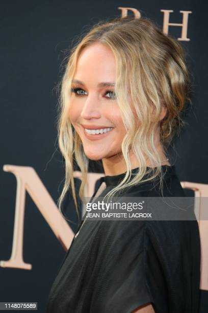 """Actress Jennifer Lawrence arrives for the """"Dark Phoenix"""" premiere at the TCL Chinese theatre IMAX in Hollywood on June 4, 2019."""