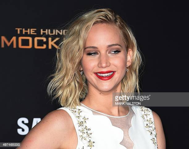 Actress Jennifer Lawrence arrives for the premiere of Lionsgate's 'The Hunger Games: Mockingjay - Part 2' at Microsoft Theater in Los Angeles,...
