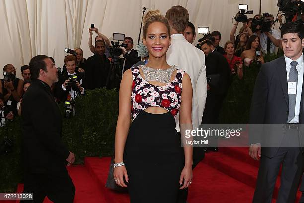 Actress Jennifer Lawrence attends China Through the Looking Glass the 2015 Costume Institute Gala at Metropolitan Museum of Art on May 4 2015 in New...