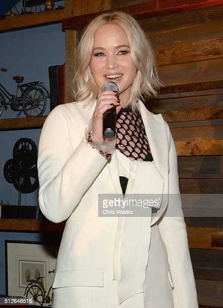 Actress Jennifer Lawrence attends Ninth Annual Women In Film PreOscar Cocktail Party at Hyde Sunset Kitchen Cocktails at Hyde On Sunset on February...