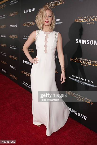 The hunger games mockingjay part 1 film actress jennifer lawrence attends premiere of lionsgates the hunger games mockingjay part 2 at voltagebd Image collections