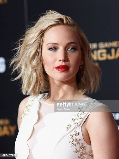 Actress Jennifer Lawrence attends premiere of Lionsgate's The Hunger Games Mockingjay Part 2 at Microsoft Theater on November 16 2015 in Los Angeles...