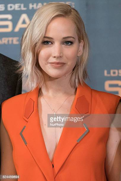 Actress Jennifer Lawrence attends quotThe Hunger Games Mockingjay Part 2quot photocall at the Villamagna Hotel on November 10 2015 in Madrid Spain