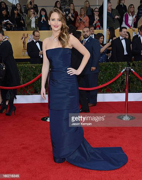 Actress Jennifer Lawrence attends the 19th Annual Screen Actors Guild Awards at The Shrine Auditorium on January 27 2013 in Los Angeles California