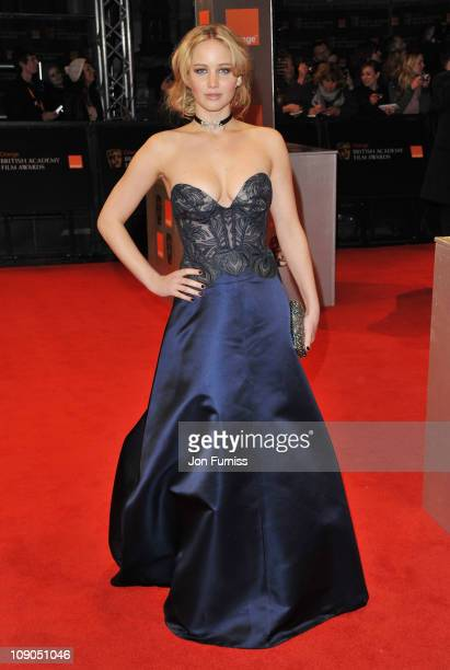 Actress Jennifer Lawrence attends the 2011 Orange British Academy Film Awards at The Royal Opera House on February 13 2011 in London England