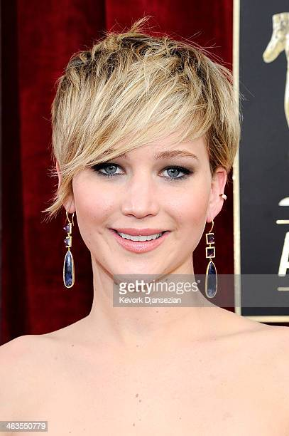 Actress Jennifer Lawrence attends the 20th Annual Screen Actors Guild Awards at The Shrine Auditorium on January 18, 2014 in Los Angeles, California.