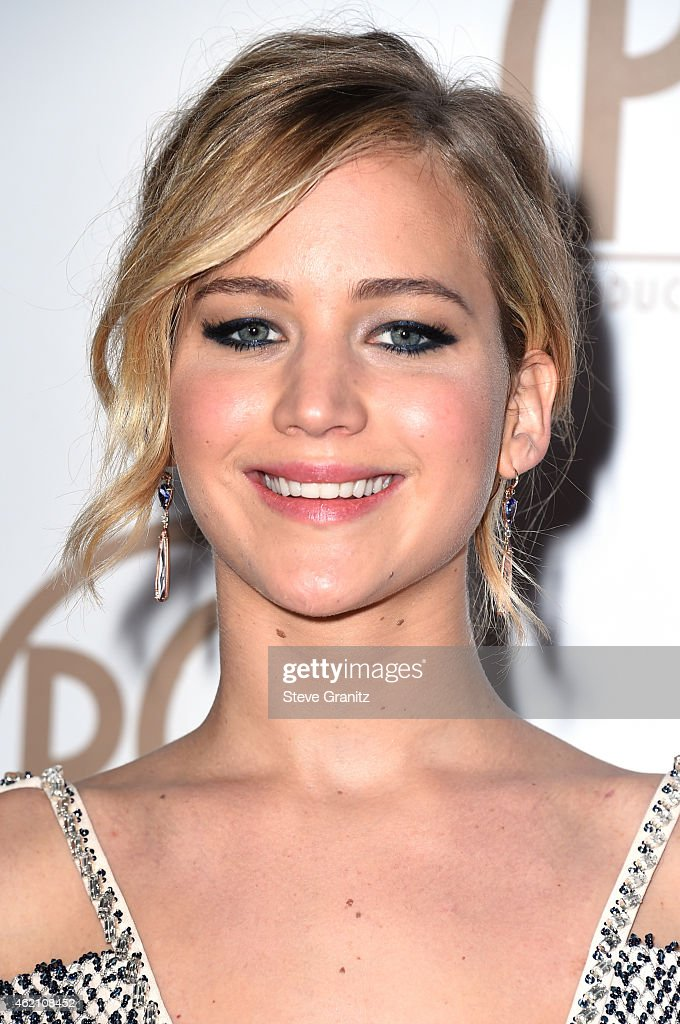 Actress Jennifer Lawrence attends the 26th Annual Producers Guild Of America Awards at the Hyatt Regency Century Plaza on January 24, 2015 in Los Angeles, California.