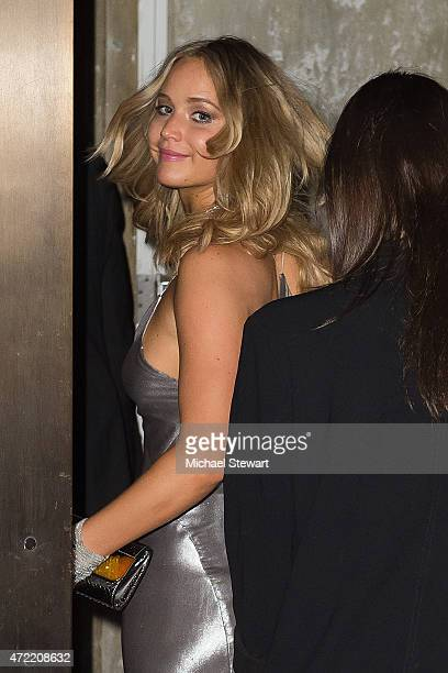 Actress Jennifer Lawrence attends the China Through The Looking Glass Costume Institute Benefit Gala after party at the Diamond Horseshoe at the...