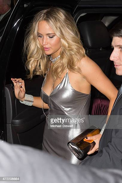 """Actress Jennifer Lawrence attends the """"China: Through The Looking Glass"""" Costume Institute Benefit Gala after party at the Diamond Horseshoe at the..."""