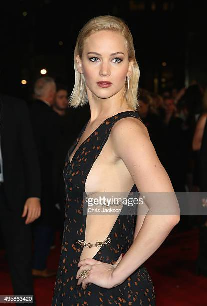 Actress Jennifer Lawrence attends 'The Hunger Games Mockingjay Part 2' UK Premiere at the Odeon Leicester Square on November 5 2015 in London England