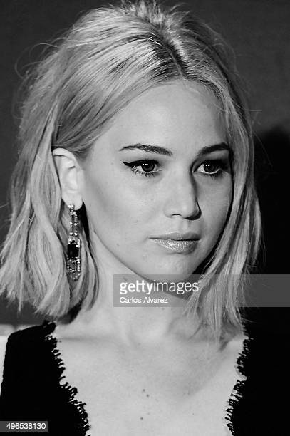 Actress Jennifer Lawrence attends The Hunger Games Mockingjay Part 2 premiere at the Kinepolis Cinema on November 10 2015 in Madrid Spain
