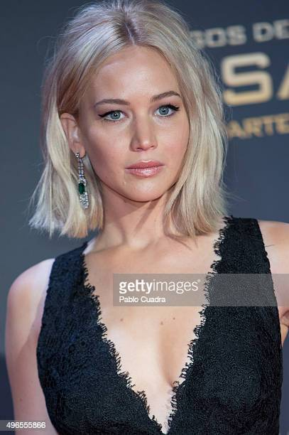 Actress Jennifer Lawrence attends 'The Hunger Games Mockingjay Part 2' premiere at Kinepolis cinema on November 10 2015 in Madrid Spain