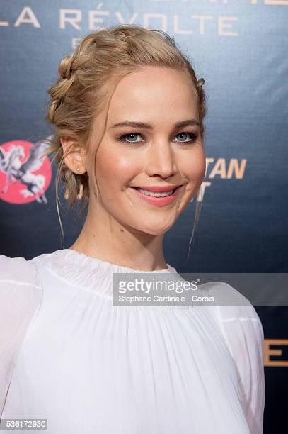 Actress Jennifer Lawrence attends 'The Hunger Games Mockingjay Part 2' Premiere at Le Grand Rex on November 9 2015 in Paris France