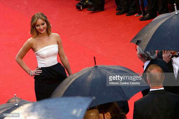 Actress Jennifer Lawrence attends the 'Jimmy P ' Premiere during the 66th Annual Cannes Film Festival at the Palais des Festivals on May 18 2013 in...