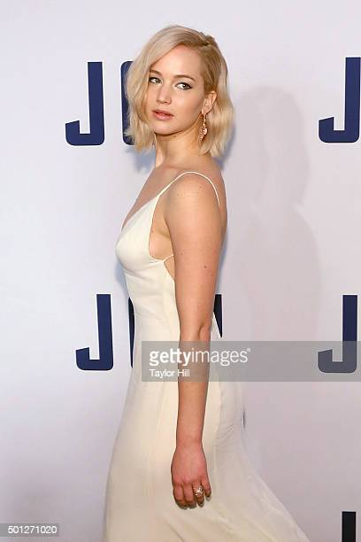 Actress Jennifer Lawrence attends the Joy premiere at Ziegfeld Theater on December 13 2015 in New York City