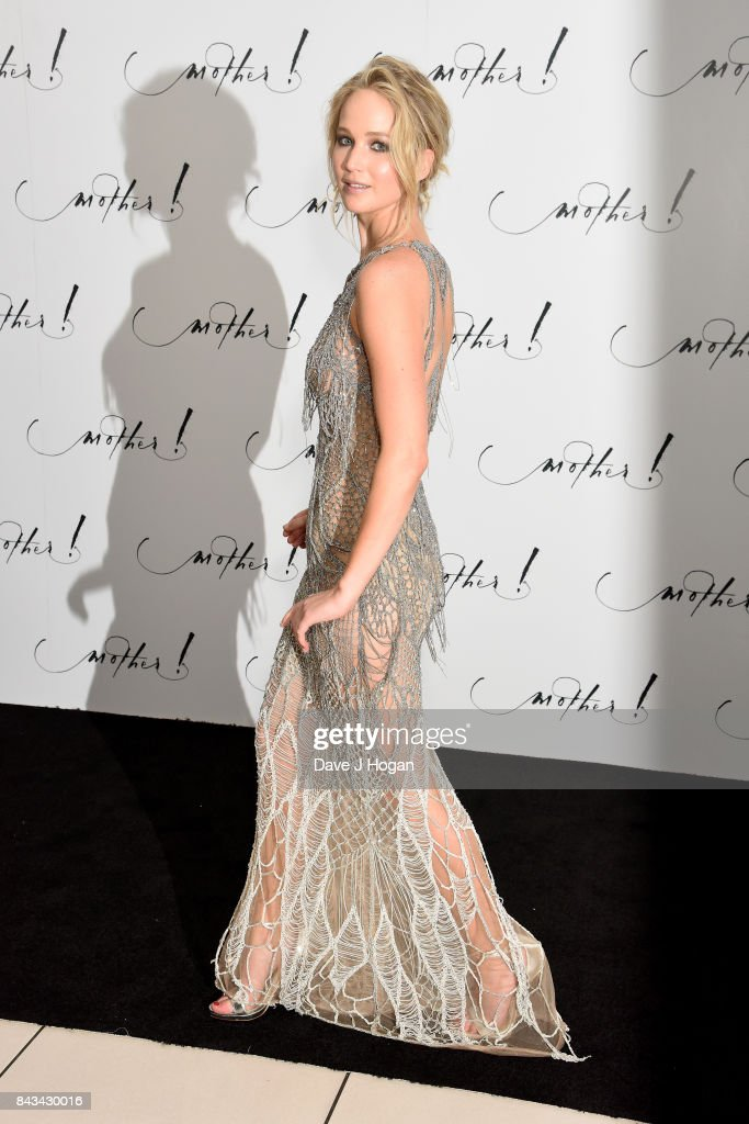 Actress Jennifer Lawrence attends the 'Mother!' UK premiere at Odeon Leicester Square on September 6, 2017 in London, England.