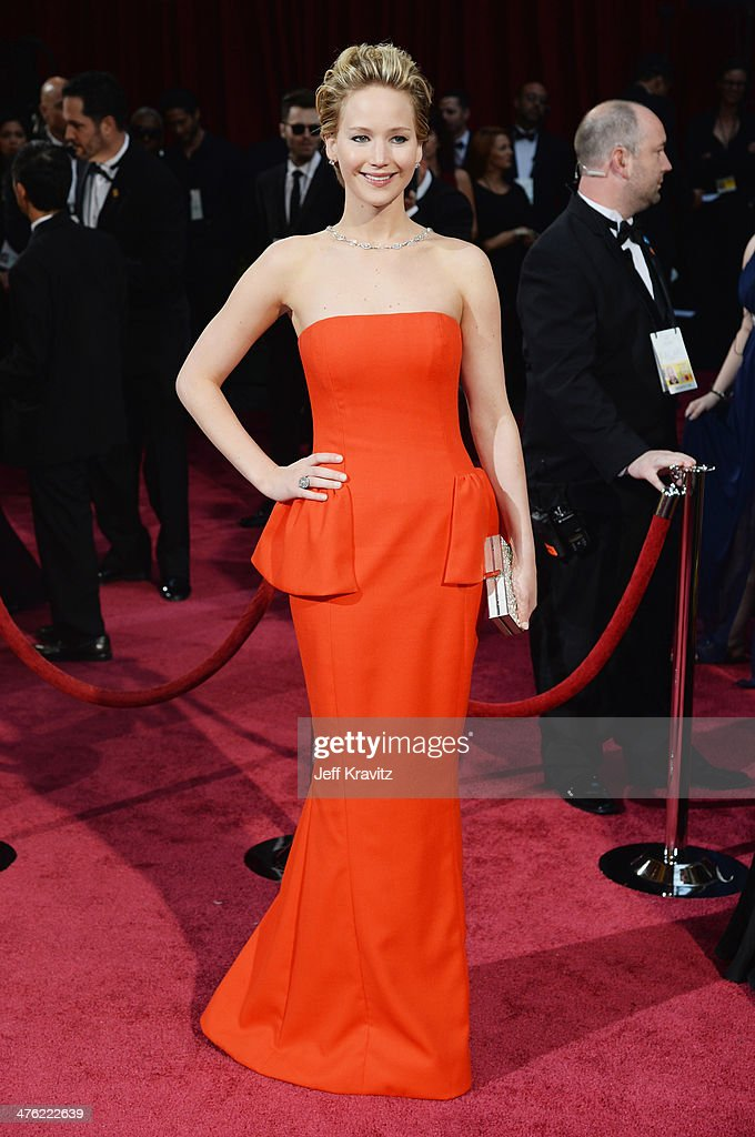 Actress Jennifer Lawrence attends the Oscars held at Hollywood & Highland Center on March 2, 2014 in Hollywood, California.