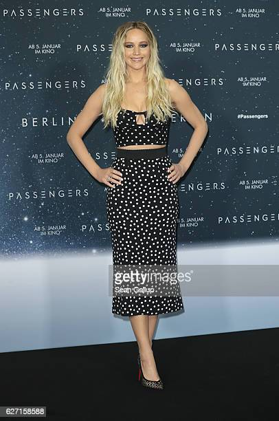 Actress Jennifer Lawrence attends the photocall for 'Passengers' at Hotel Adlon on December 2 2016 in Berlin Germany