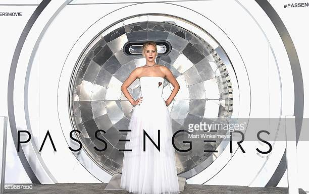 """Actress Jennifer Lawrence attends the premiere of Columbia Pictures' """"Passengers"""" at Regency Village Theatre on December 14, 2016 in Westwood,..."""