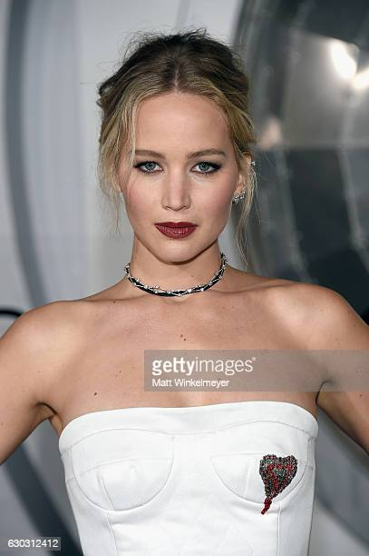 Actress Jennifer Lawrence attends the premiere of Columbia Pictures' Passengers at Regency Village Theatre on December 14 2016 in Westwood California