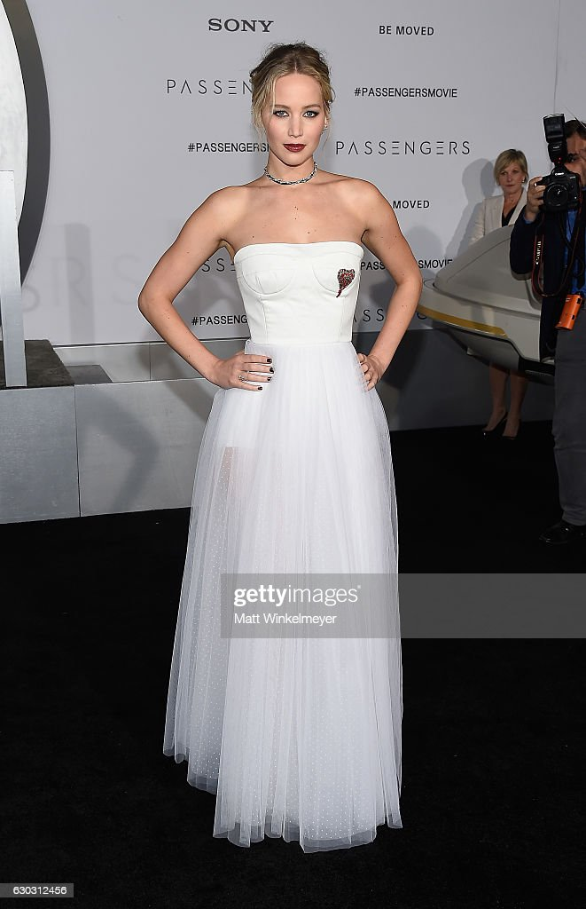 Actress Jennifer Lawrence attends the premiere of Columbia Pictures' 'Passengers' at Regency Village Theatre on December 14, 2016 in Westwood, California.