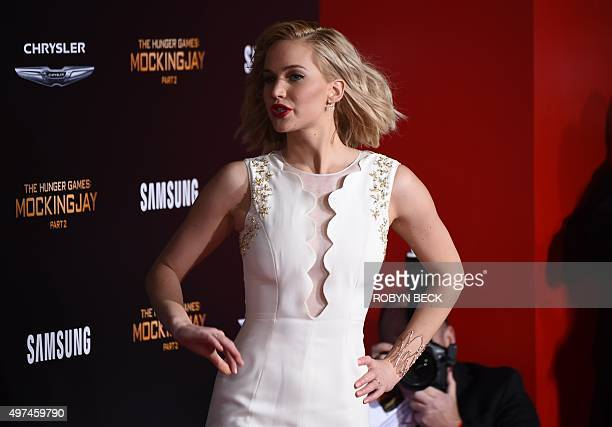 """Actress Jennifer Lawrence attends the premiere of """"The Hunger Games: Mockingjay - Part 2"""" at the Microsoft Theater in Los Angeles, California,..."""