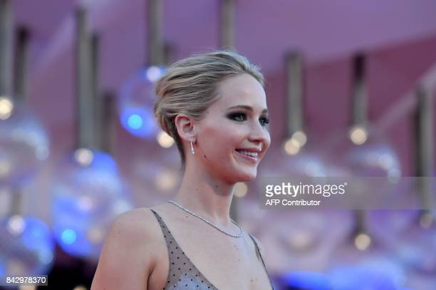 US actress Jennifer Lawrence attends the premiere of the movie 'Mother' presented in competition at the 74th Venice Film Festival on September 5 2017...