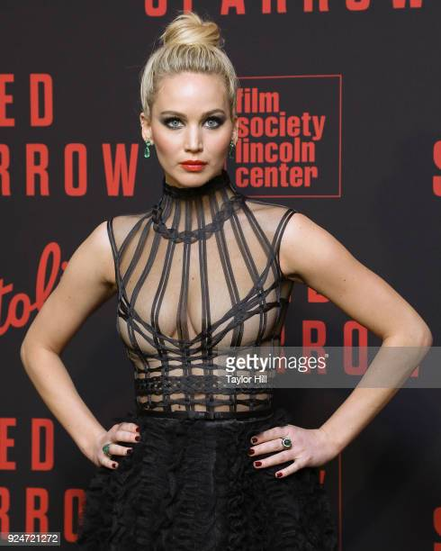 Actress Jennifer Lawrence attends the Red Sparrow premiere at Alice Tully Hall at Lincoln Center on February 26 2018 in New York City