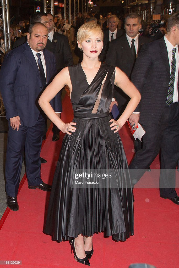 'The Hunger Games: Catching Fire' Paris Premiere At Le Grand Rex : News Photo