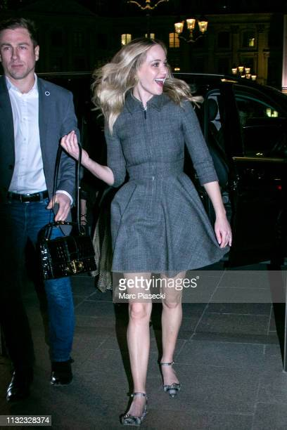 Actress Jennifer Lawrence is seen on February 26 2019 in Paris France
