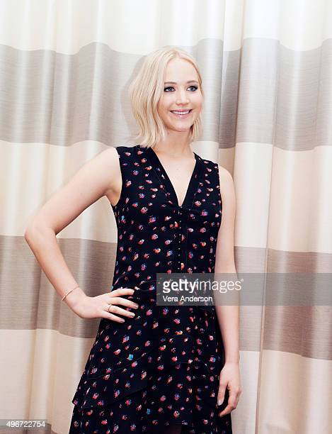 Actress Jennifer Lawrence poses for a portrait at 'The Hunger Games: Mockingjay - Part 2' Press Conference at the Hotel De Rome on November 3, 2015...